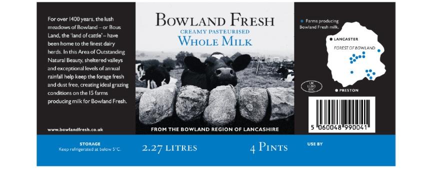 Bowland Fresh Milk NPD