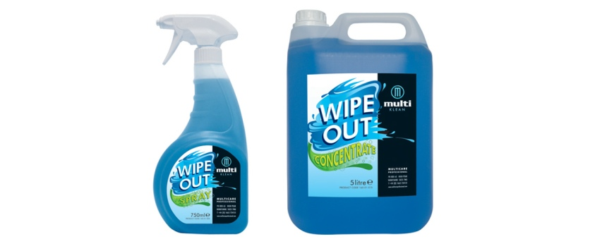 Multicare Wipeout cleaning range