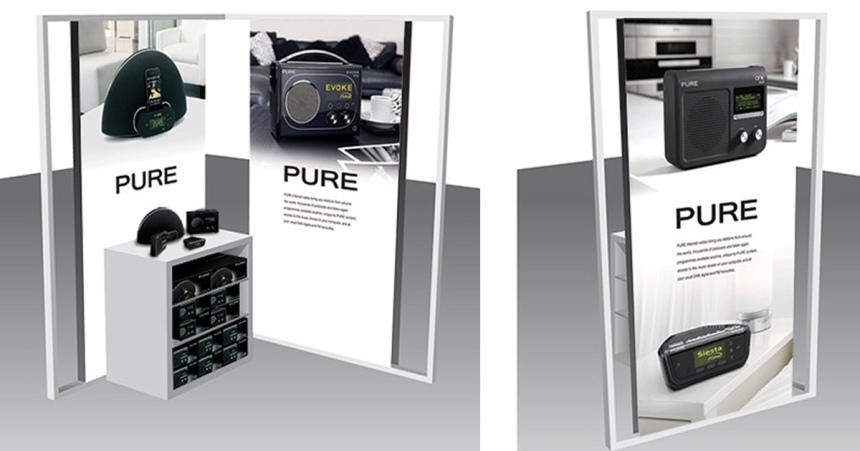 PURE John Lewis display panels