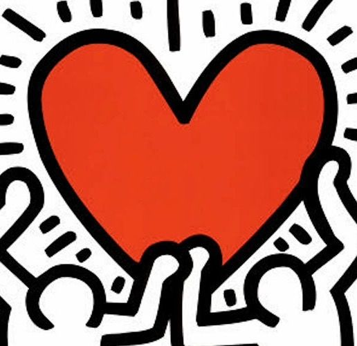 Keith haring heart large