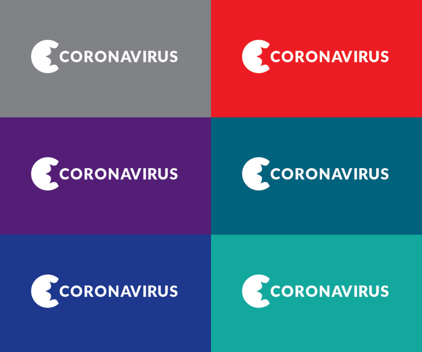 Coronavirus long word mark options reverse