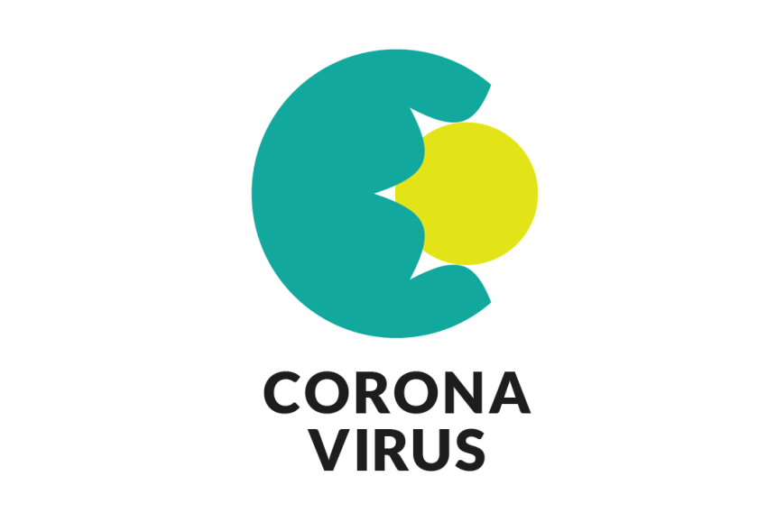 Corona virus colour icon