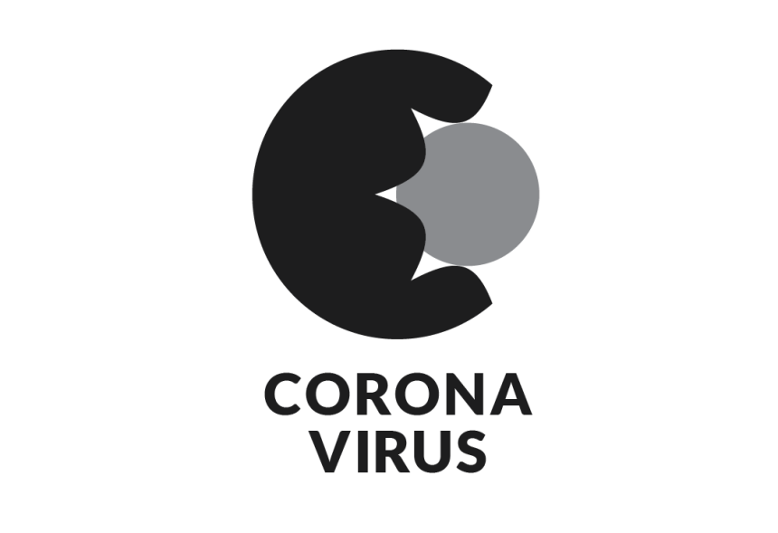 Corona virus icon mono
